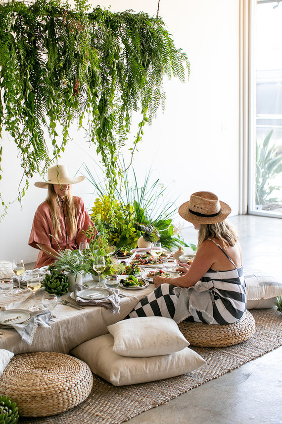Garden inspired dinner party