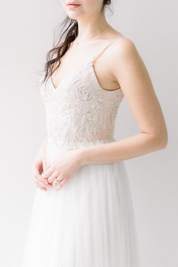Ethereal stylish blush bridal inspiration