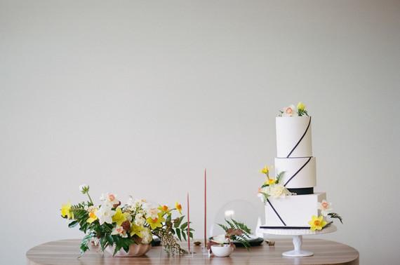 Blush + yellow wedding inspired by daffodils