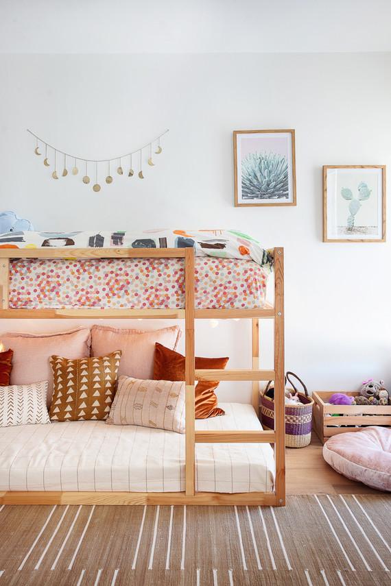 Modern earth tone girl's room from Veneer Designs