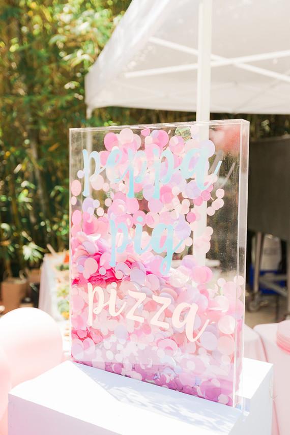 Modern Peppa Pig girl's birthday party