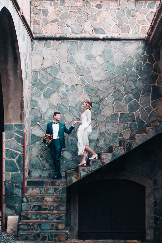 Elegant spanish wedding ideas at Castell de Riudabella in Spain