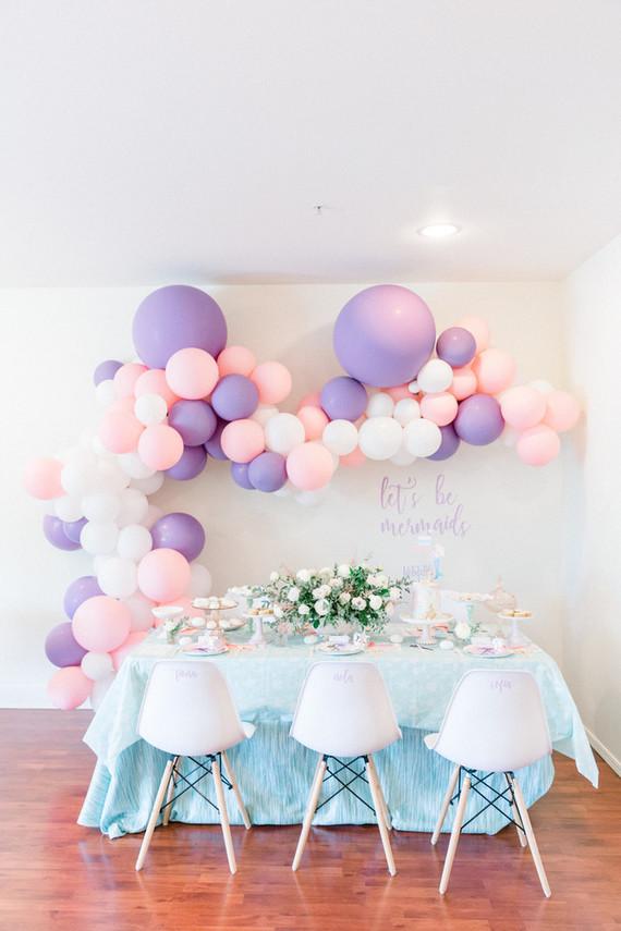 Pastel mermaid birthday party