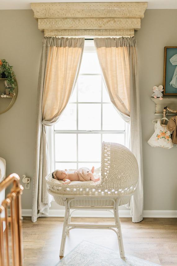 Vintage modern girl's nursery