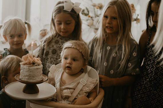 Blushy baby girl's 1st birthday from Kelli Murray