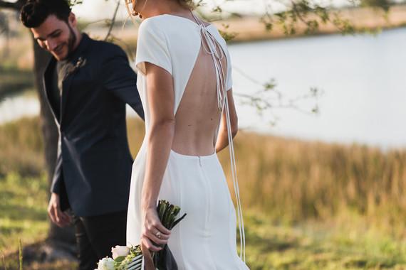 Modern minimal Icelandic wedding editorial at The Lake House