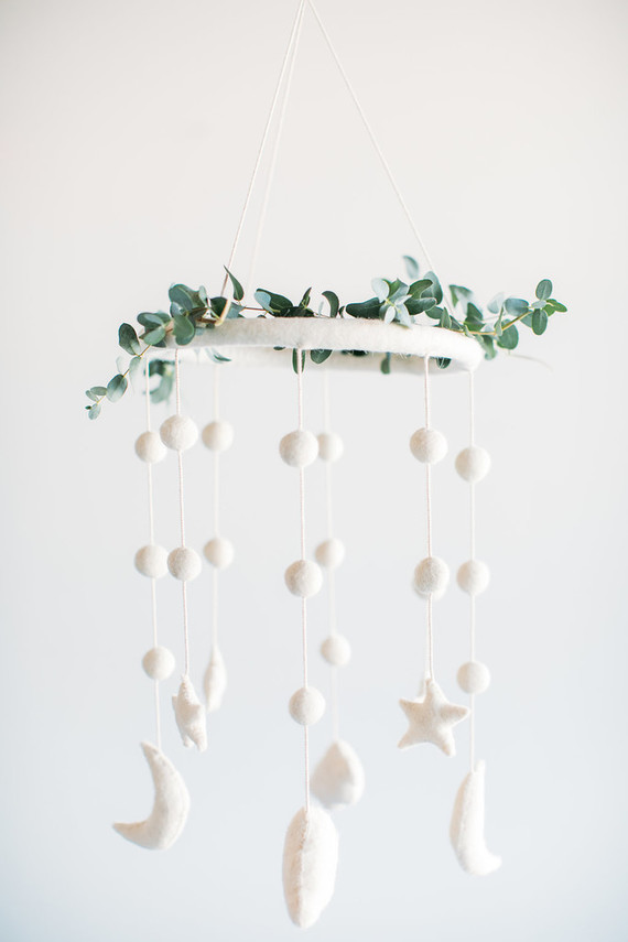 White nursery mobile