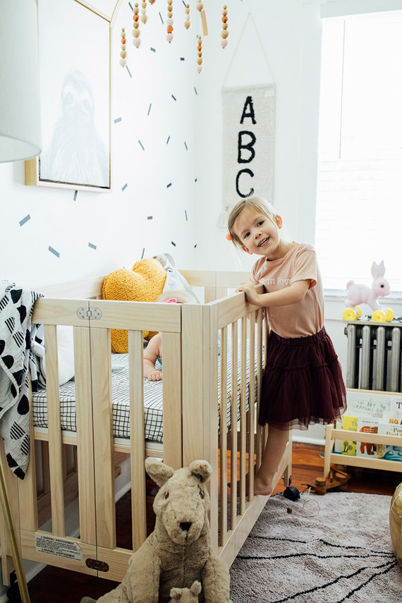 A teensy tiny modern nursery in 52 sq ft