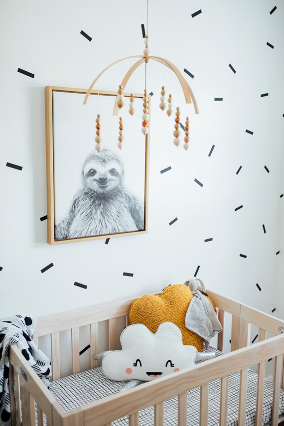 Modern tiny nursery | Small space nursery | 100 Layer Cakelet