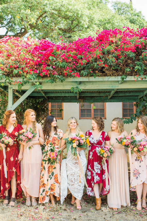 Spanish floral fiesta wedding at a unique venue in Ventura, CA