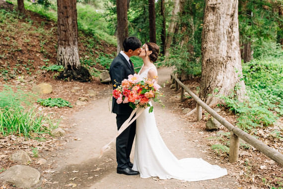 a colorful backyard wedding in Santa Barbara on a super reasonable budget