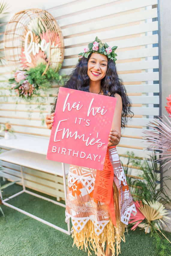 Modern Moana 5th birthday party