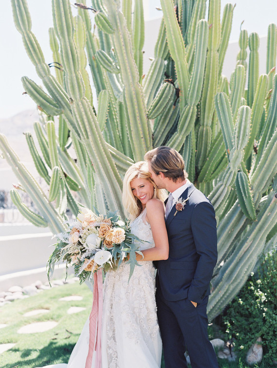 Cactus wedding portrait