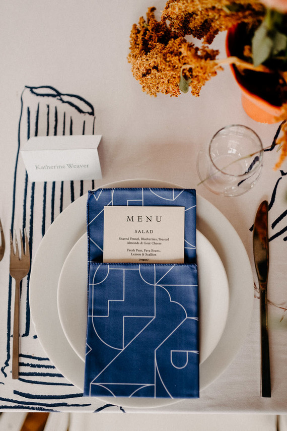 A print maker's thoughtful DIY fall wedding ... with kilts!