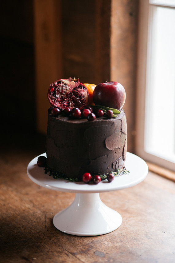 Fall chocolate cake