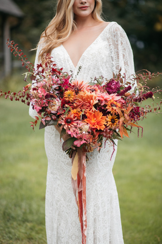 Stunning fall bouquet of dahlias
