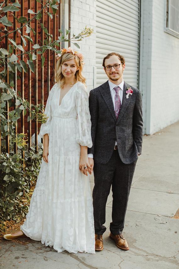 Modern tropical DTLA wedding with designer details at The Millwick