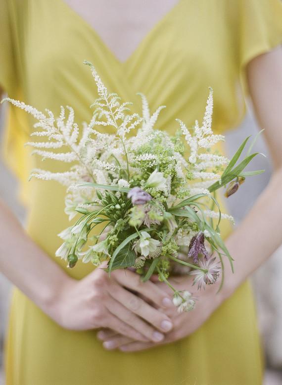 Lemon yellow bridesmaid dresses for spring