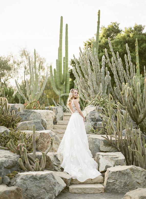 Cactus garden wedding venue in Montecito