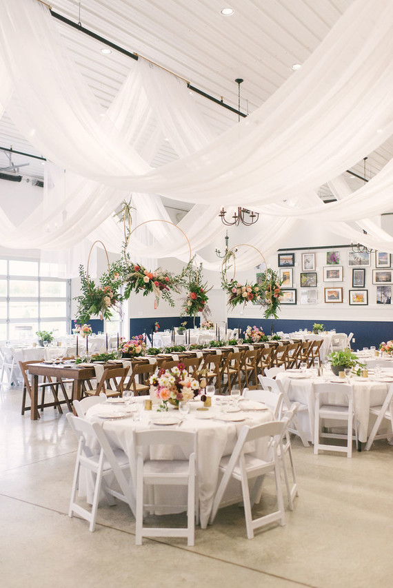 White cider house fall wedding