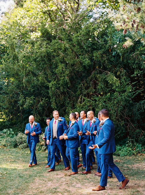 blue groomsmen suits