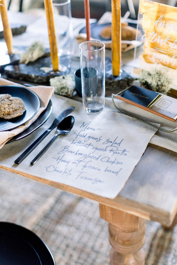 Wedding menu ideas