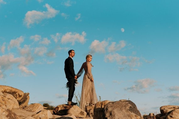 Ultra chic Joshua Tree wedding at Rimrock Ranch on 100 Layer Cake