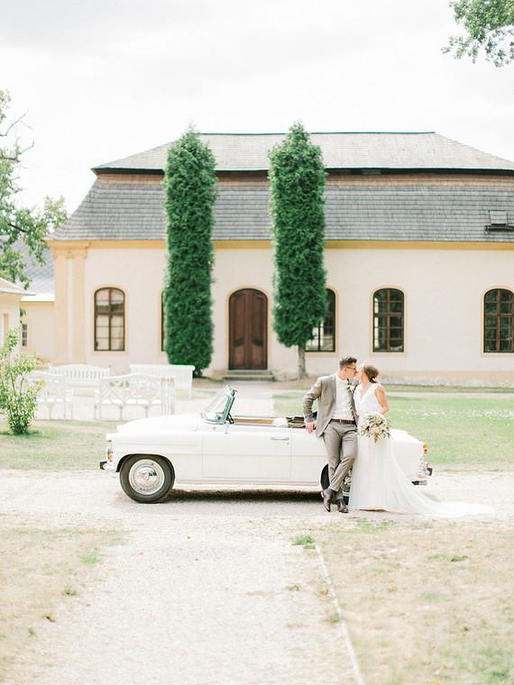 Sweet spring countryside wedding at Castle Bon Repos outside of Prague