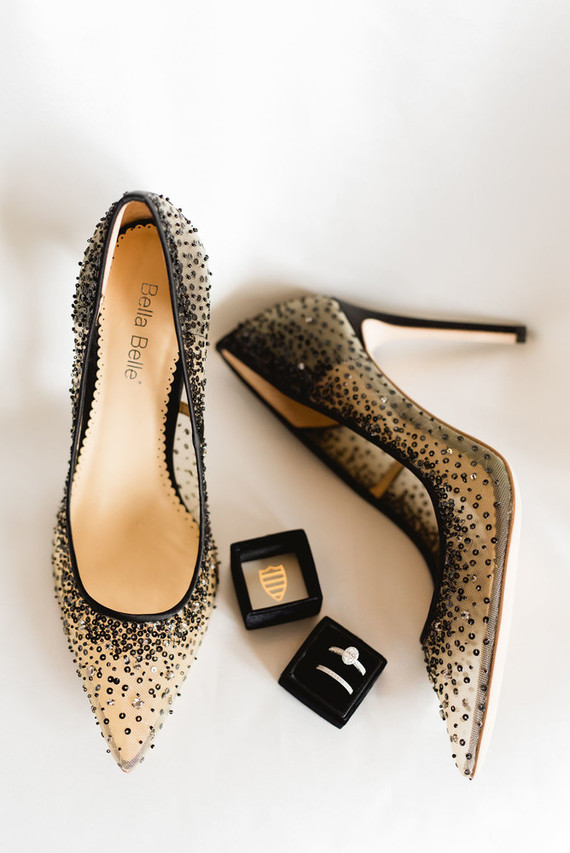 black and gold wedding shoes