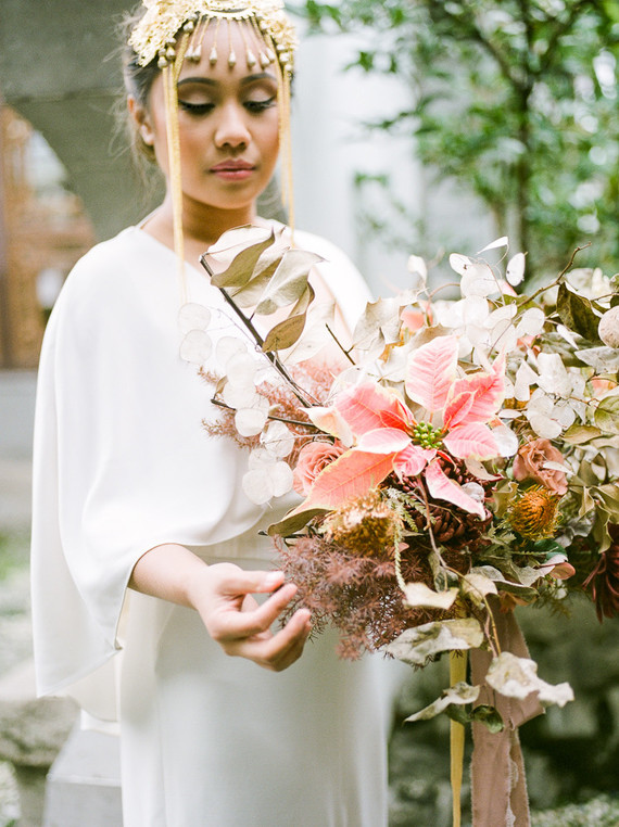 Modern Asian bridal bouquet