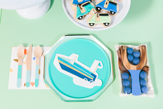 Modern city-themed boy's birthday party ideas