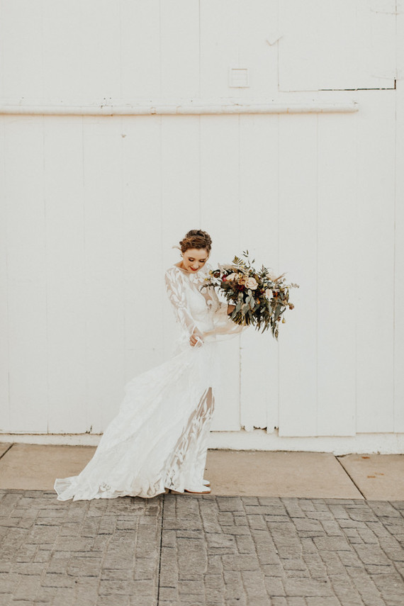 gorgeous unique boho bridal dress