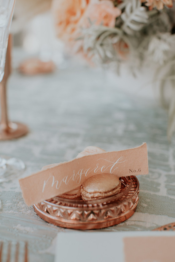 Spring 2019 wedding trend alert: pale mint and blush seaside editorial