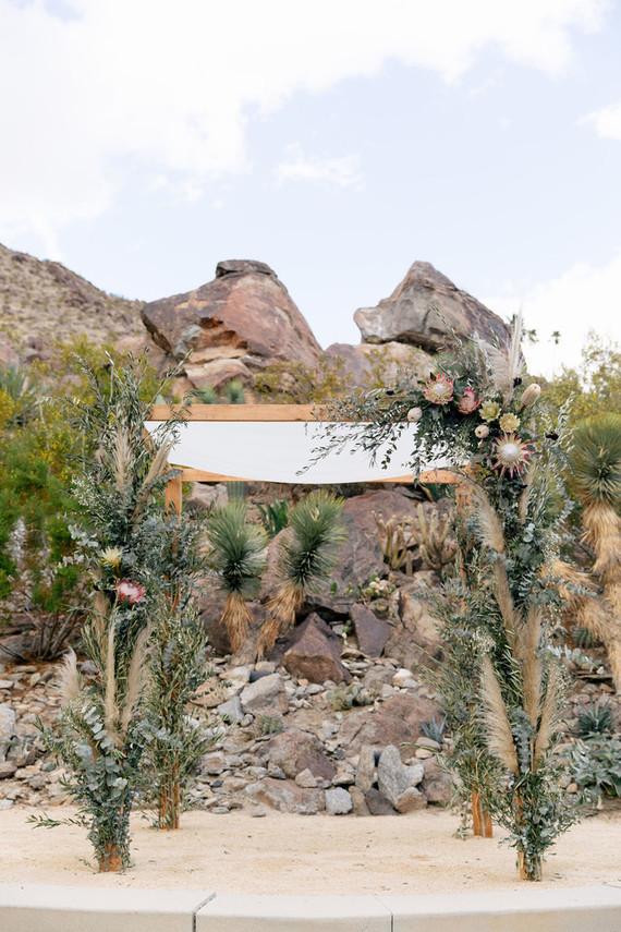 Floral desert huppah
