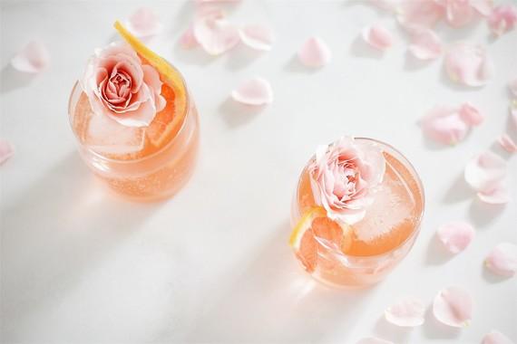 Cardamom Rose cocktail for Valentine's Day