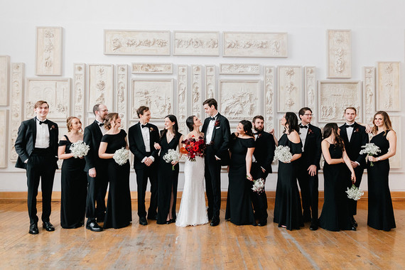 modern winter art gallery wedding in Philadelphia