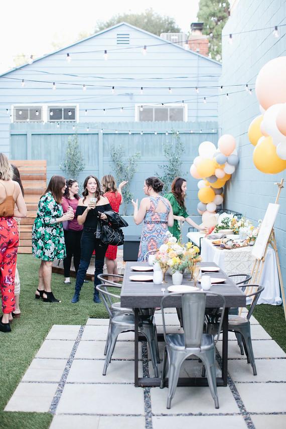 Spring backyard gender neutral baby shower