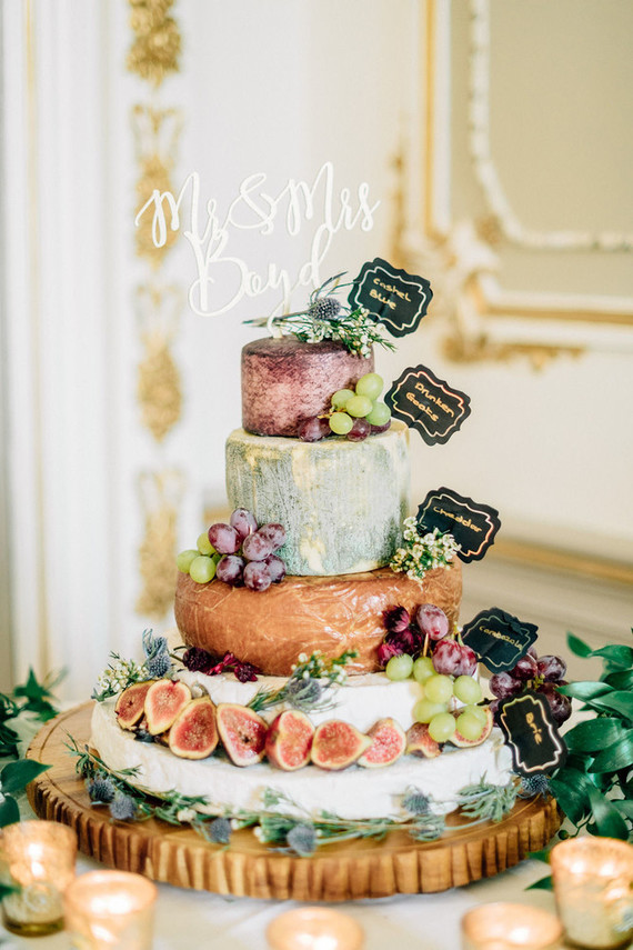 stacked cheese wedding cake
