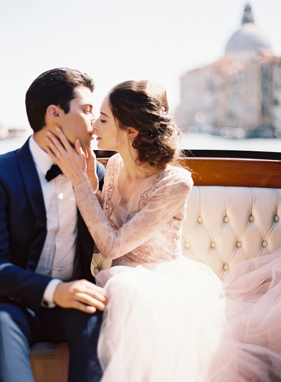 The most romantic elopement ever on the canals of Venice, Italy