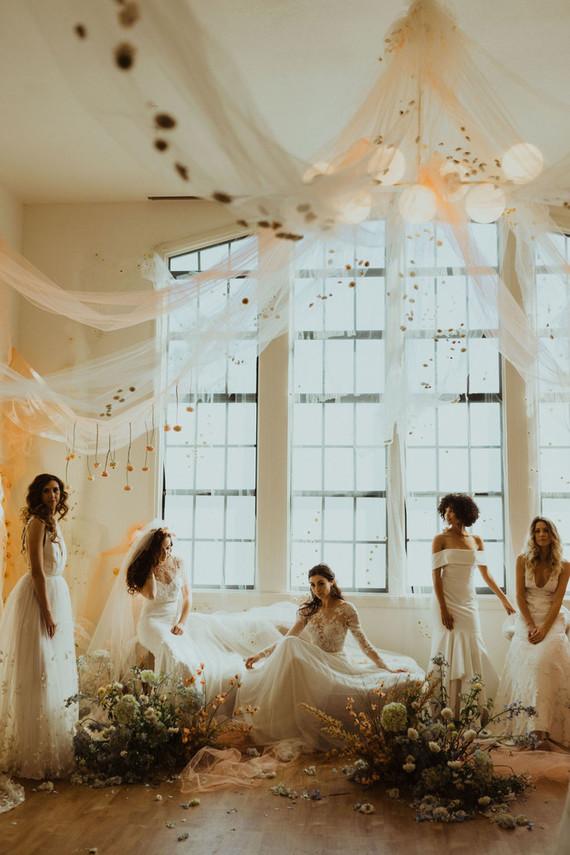 Modern bridal style