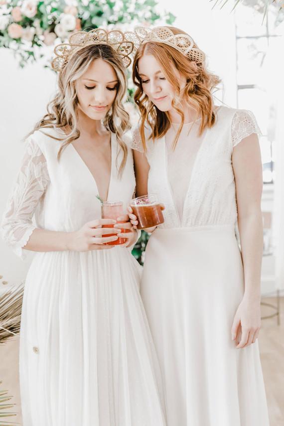 Bohemian wedding dress style