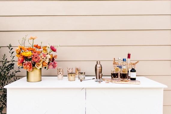 Colorful spring floral wedding in Southern California at Oakridge Farmhouse