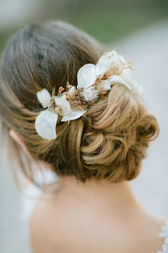 dried flower hair adornments