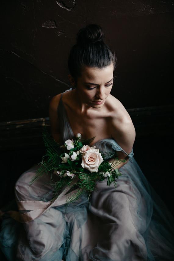 Moody winter Degas-inspired wedding design