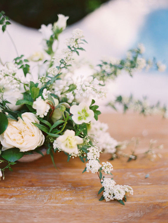elegant white floral arrangements
