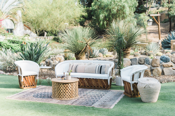 boho mexican wedding lounge