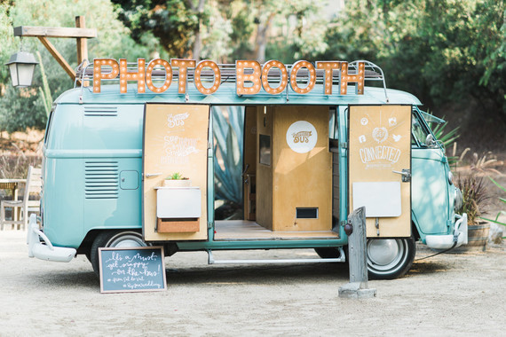 vintage VW photo booth