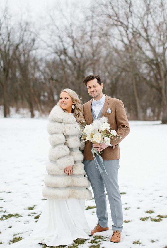 artful winter wedding cake
