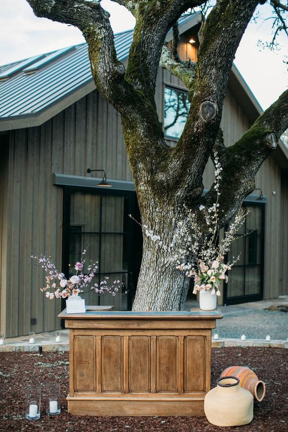 Modern rustic barn wedding