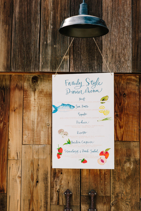 watercolor wedding menus